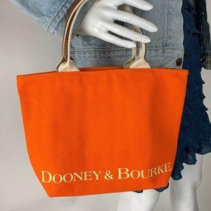 Dooney & Bourke Orange Canvas Insulated Lunch Tote
